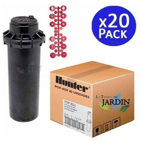 """Pack 20 x Arroseur Hunter PGP-ADJ 3/4"""", Portée 6,4 à 15,8 m"""
