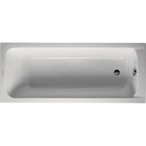 Vasca da bagno in acrilico bianco DURAVIT D-Code da incasso, 1700 x 700 mm - Art. 700098 00 00 0 0000