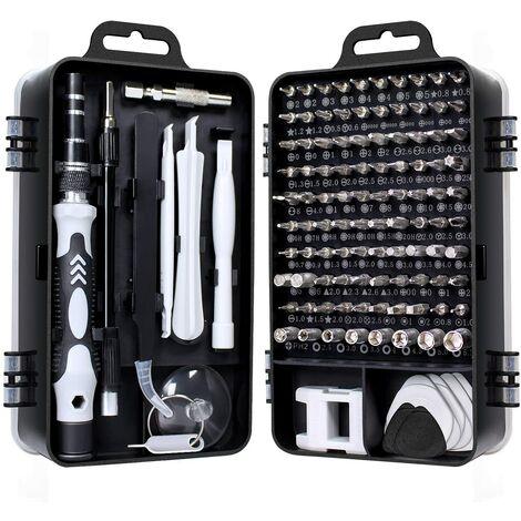 SOEKAVIA 115 en 1 mini set tournevis precision kit tools petit boite tournevis torx informatique demontage pc portable pour macbook,iphone,réparation,lunettes,bricolage,montre,smartphone