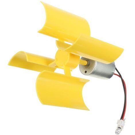 SOEKAVIA 360 ° Micro éolienne Lames de turbines Verticales Mini-Moteur pour Le Bricolage