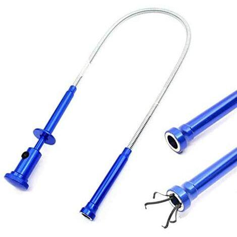SOEKAVIA Aimant Ramasser Outil Flexible Grabber Reacher Magnétique Longue Ressort Grip 4 Griffe avec Lumière LED pour Jardin Maison Toilette Gadget Égout Nettoyage Nettoyage Outils