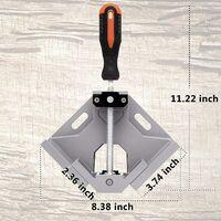 Support de pinces d'angle à angle droit 90 degrés, pince de soudage d'angle, outil de banc réglable, pince de coin pivotante réglable, parfait pour le soudage de charpentier