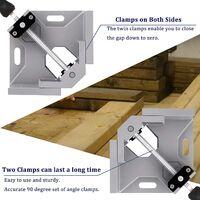 Lot de 2 pinces à souder d'angle droit à angle droit à 90 degrés, idéal pour le travail du bois avec ruban à mesurer (argent)