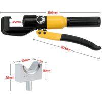 SOEKAVIA 10 Tonnes 9 Matrices Coffret de Pince à Sertir hydraulique ,Outil de Sertissage Hydraulique, Pince à Sertir per les Bornes à Cliquet pour Câble 4-70 mm²