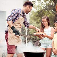 SOEKAVIA Gant Anti Chaleur Gant de Cuisine Gants pour Barbecue Gant Four Jusqu'à 800°C Universel Gants de Cuisine Résistant à Chaleur Antidérapants Gants pour BBQ Grill Four Cuisine et Cheminée
