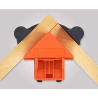 SOEKAVIA Lot de 4 pinces d'angle réglables à 60/90/120 degrés pour soudage, travail du bois, armoire, cadre photo, projets d'artisanat en bois