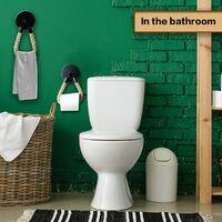 SOEKAVIA Porte-Rouleau Support Papier Toilette Mural Industriel Étagère Papier Hygiénique Porte Papier Toilette Vintage Corde de Chanvre pour Salle de Bain et Cuisine Accessoires