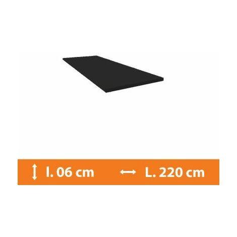 Plat PVC Gris - L.220 x l.6cm - Gris
