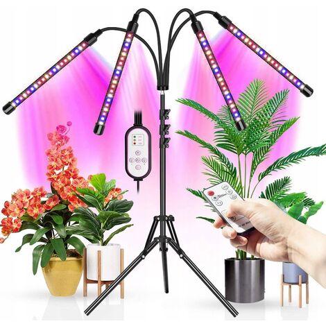 Lumière de plantation, lumière de jardinage, lumière de plante, éclairage de plante, lampe de plante de type support LED sur pied à quatre têtes, 4 têtes avec support (60W)