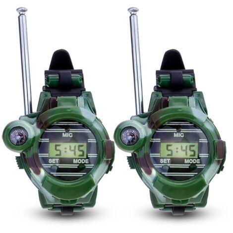 Ilovemono Jouets pour enfants, montres pour enfants, talkies-walkies pour enfants, montres militaires, talkies-walkies en plastique A