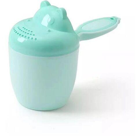 Shampoing de douche pour enfants - Bébé Shampooing Rincer Tasse Cuillère Douche Tasse - Shampooing Tasse Enfants Produits, cheveux, bain, douche, tasse de rinçage Rug Jug(bleu