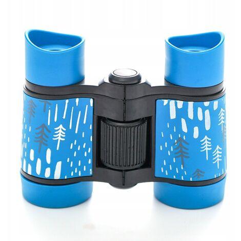 ILoveMilan Jumelles télescope pour enfants impression couleur télescope pour enfants 4 * 30 bleu