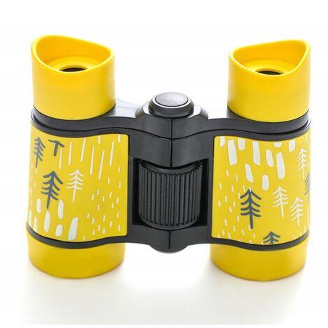 ILoveMilan Jumelles de télescope pour enfants à impression couleur télescope pour enfants 4 * 30 jaune
