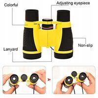 ILoveMilan Télescope pour enfants Télescope d'aventure en plein air Télescope jouet 5x30 jumelles, jaune