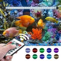 ILoveMilan lumière de bulle d'aquarium étanche à LED (lumière de bulle de télécommande de 39 cm
