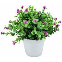 ILoveMilan Plantes artificielles, fausses fleurs, orchidées de simulation, plantes en pot d'eucalyptus, plantes vertes, décoration de la maison, décoration de fenêtre, petites plantes en pot de fleurs (couleur lotus)
