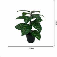ILoveMilan Plante artificielle simulation de fleur faux en pot grand paon tournesol plante verte en pot simulation plante fleur
