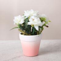 Simulation de style simple et fraîche fleur rose fleur ornements en pot fleur de simulation orchidée (rose)