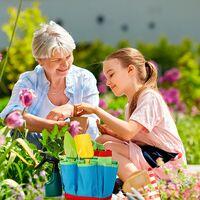 Outils de Jardinage pour Enfants, Jouet de Jardin Enfant avec Arrosoir, Gants, Râteau, Pelle, Outils de Jardin Kit pour Enfant Cadeau pour Bébé Préscolaire