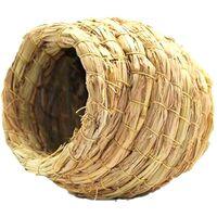 ILoveMilan Nid d'herbe fait à la main pour perroquets Nid d'oiseau Boîte d'élevage Peau de tigre Pivoine Nid suspendu chaud Nid d'élevage Wenbird