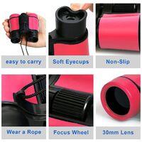 ILoveMilan Jumelles de télescope pour enfants à impression couleur télescope pour enfants 4 * 30