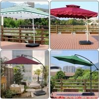 VOUNOT Umbrella Base Stand for Cantilever and Banana Parasol, 60L/100kg