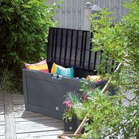 VOUNOT Outdoor Garden Storage Box, Anthracite 310L