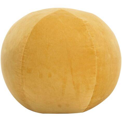 YOUTHUP Pouf in Velluto di Cotone 50x35 cm Giallo - Giallo