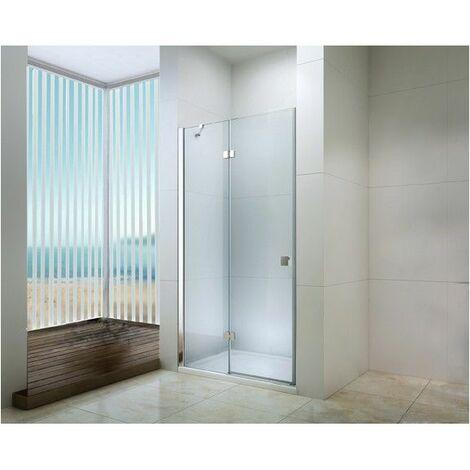 Porte pivotante douche en verre trempé 120cm transparente Frisco - Transparent