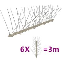 Set de hileras 6 pinchos contra pájaros y palomas 4 filas 3 m