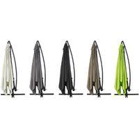 Ombrellone da giardino decentrato in alluminio ILIOS 3 - Quadrato - 3 x 3 m - Grigio