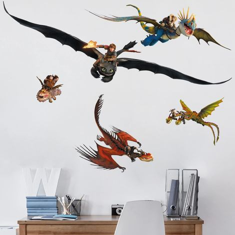 Sticker mural Dragons Dragon Set Dimension: 20cm x 40cm