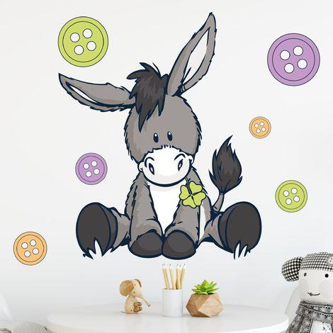 Sticker mural NICI Donkeys & buttons Dimension: 40cm x 40cm