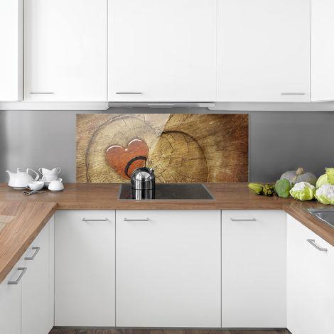 Anti-projections de cuisine mur arrière 6 mm ESG 80x40cm Carreaux Miroir Mur Arrière En Verre Clair