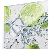 Crédence en verre - Refreshing lime - Paysage 1:2 Dimension: 40cm x 80cm
