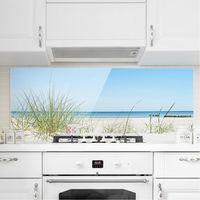 Crédence en verre - Baltic Sea Coast - Panorama Dimension: 40cm x 100cm