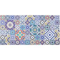 Crédence en verre - Mirror Tiles - Elaborate Portuguese Tiles - Paysage 1:2 Dimension: 40cm x 80cm