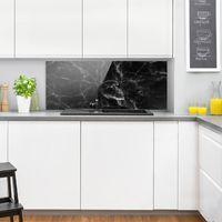 Crédence en verre - Nero Carrara - Panorama Dimension: 40cm x 100cm
