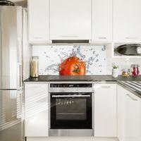 Crédence en verre - Fresh Tomato - Panorama Dimension: 40cm x 100cm