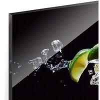 Crédence en verre - Mojito ingredients - Panorama Dimension: 40cm x 100cm