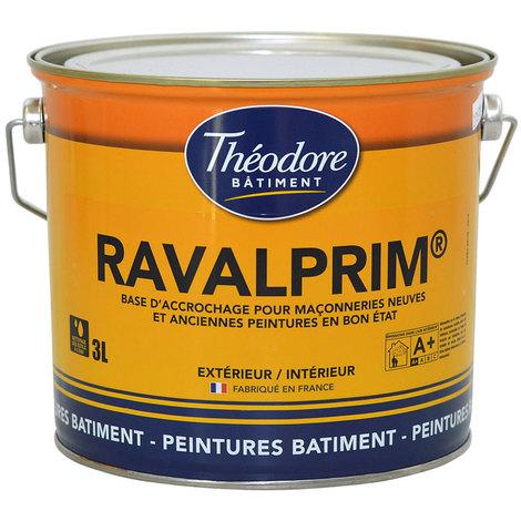 Ravalprim - 3L : sous-couche ravalement de façades pour maçonneries neuves et anciennes peintures en bon état