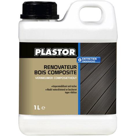 Rénovateur bois composites Plastor - 1L : rénovez, protégez, imperméabilisez vos terrasses, bardages, abords de piscine en bois composites
