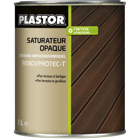 Huile / saturateur terrasse Renovprotect-T (1L ou 5L) : saturateur opaque de rénovation pour terrasses et bardages - 1L Chêne Moyen