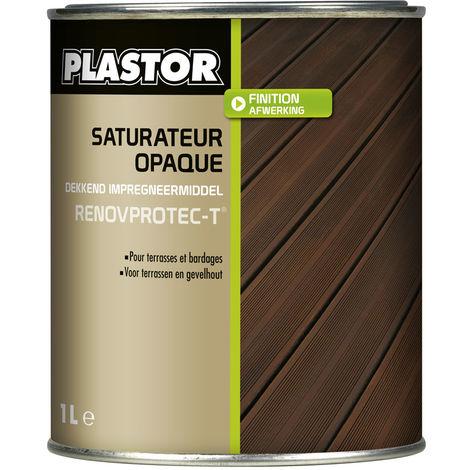 Huile / saturateur terrasse Renovprotect-T (1L ou 5L) : saturateur opaque de rénovation pour terrasses et bardages - 5L Chêne Moyen