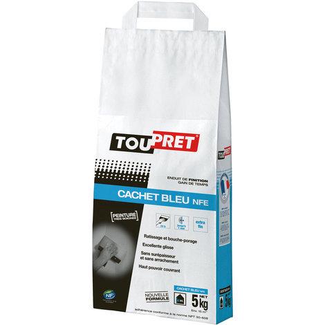 Enduit de finition et lissage Cachet Bleu NFE Toupret - 5Kg : lissez vos murs avant une finition peinture très soignée