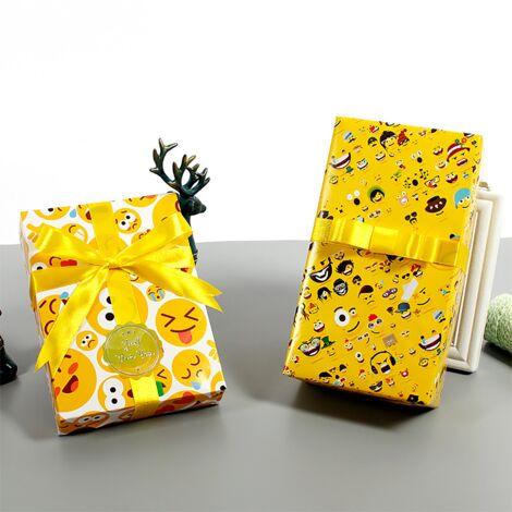TRIOMPHE 10 morceaux de papier d'emballage d'émoticônes 50 * 70cm (style n ° 1 * 5 + style n ° 2 * 5)