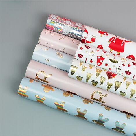 TRIOMPHE 8 morceaux de papier d'emballage en aluminium 50 * 70cm (1 pièce chacun pour n ° 1-8)