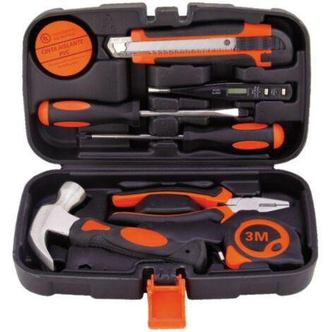 TRIOMPHE Ensemble d'outils de matériel Ensemble de combinaison Outil électrique de boîte à outils de travail du bois manuel domestique