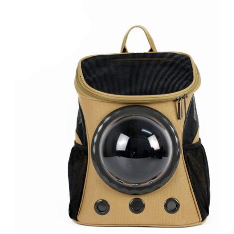 Triomphe Space Cat Bag Épaule Outing Pet Cat Sac à dos Portable Respirant Pet Sac Sac à dos pliant pour chien, marron