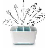 Triomphe Organisateur brosse à dents électrique porte-brosse à dents, support pour brosse à dents porte-dentifrice, support pour brosse à dents étui de maquillage, salle de bains, 1 pièce(Bleu)